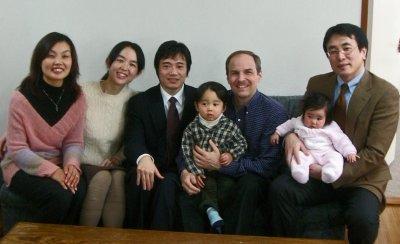 Wakako and I with the Director of Alpha Japan, Nobu Nagai