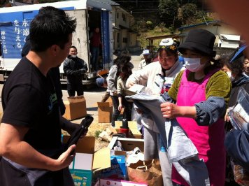 Tsunami relief work in Japan (photo courtesy Kent Muhling)