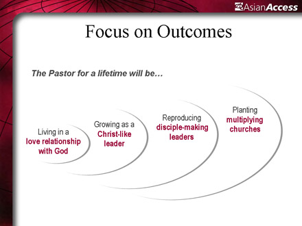 A2 leadership development model focuses on 4 outcomes in the life of the pastor.