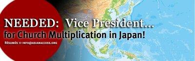 VP for Church Multiplication/Japan needed!