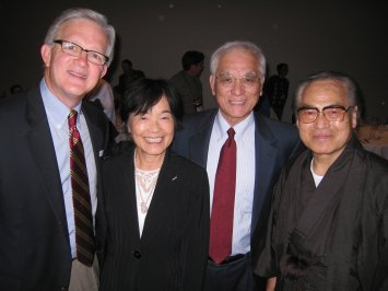 Doug Birdsall with the Maeharas and Pastor Ariga at the Birdsalls' 30th anniversary with Asian Access celebration.