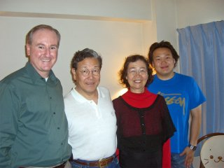 Joe with Pastor Masuda & family