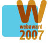 WebAward 2007 Winner