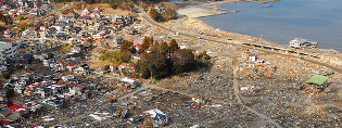 Tsunami damage in Japan