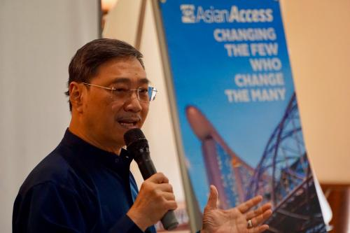 Edmund Chan speaking at A2 Global Leaders' Summit 2018