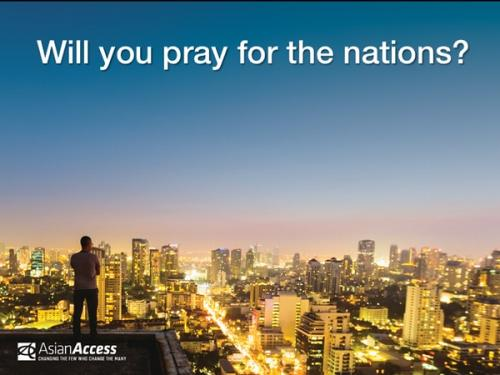 Will you pray for the nations?