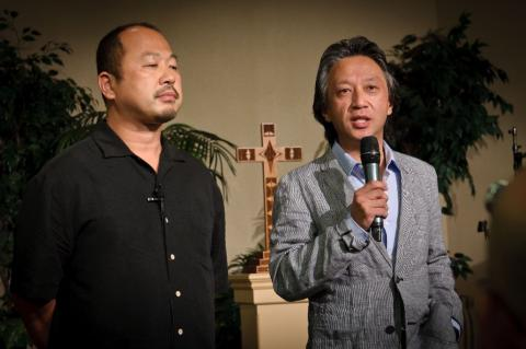 Pastor Sato and Takeshi Takazawa