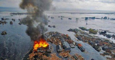 Fires resulting from Tsunami (AP photo)